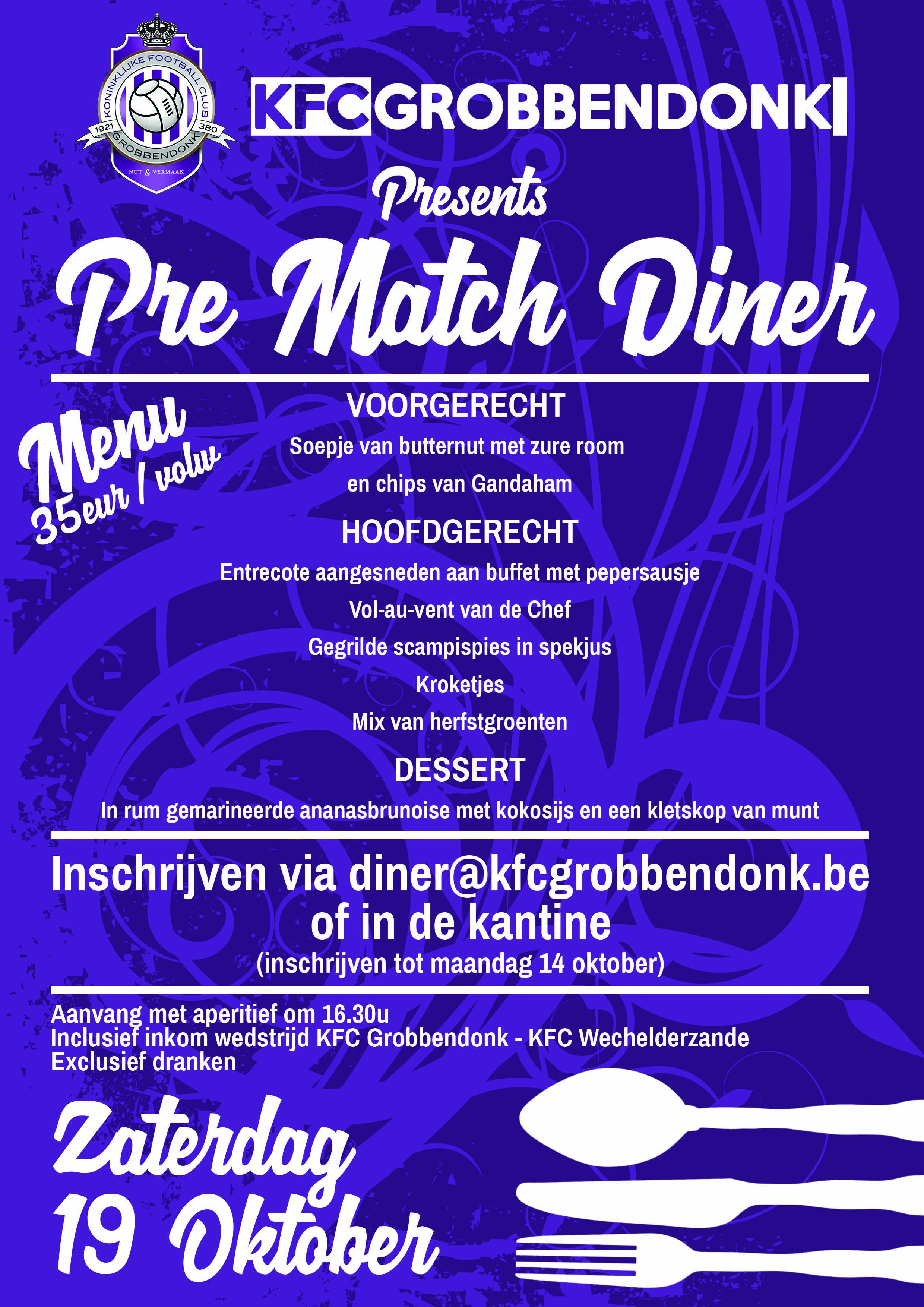 afbeelding Pre Match Diner